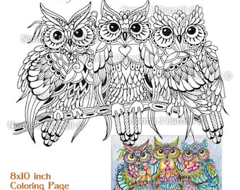 photograph about Printable Owl Coloring Pages for Adults identify Owl shade webpages Etsy