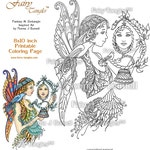 Fairy Tangles Printable Coloring book Sheets & Pages Norma Burnell Digital Coloring and Adult Coloring for Grownups Digital Coloring Images