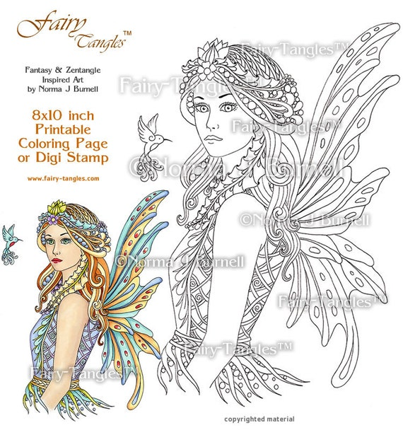 Acacia Fairy Queen Printable Coloring Book Sheets And Pages By Etsy
