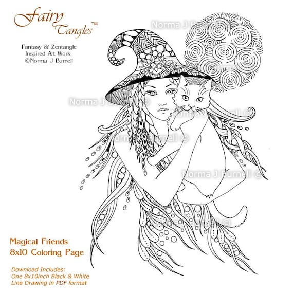 Fairy Coloring Pages - GetColoringPages.com | 570x570