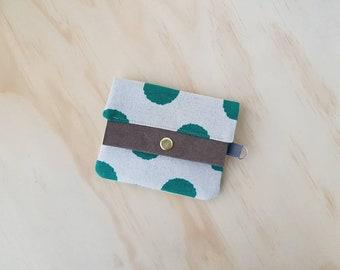 Teal Dots Card Wallet