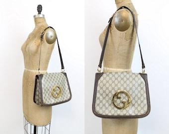61cce69f8ed0 1970s Gucci monogram blondie shoulderbag | vintage gucci purse