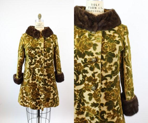 1960s LILLI ANN velvet mink fur coat medium | new