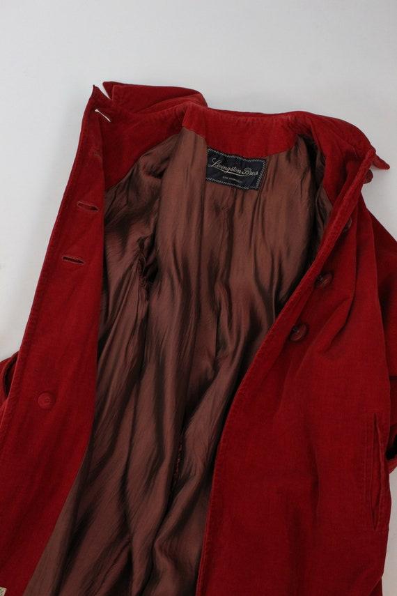 1940s red corduroy coat medium large   vintage ja… - image 8