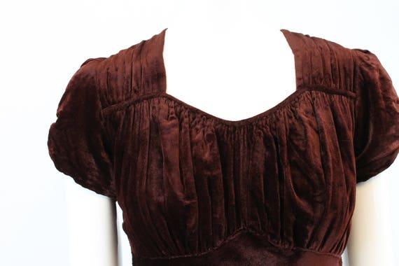 1930s velvet dress | bias cut gown | xs - image 6