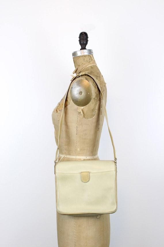 1970s Gucci purse   crossbody satchel   tan leath… - image 10