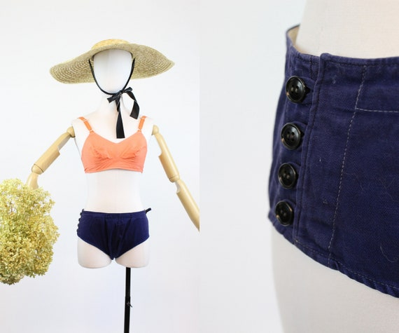 1950s cotton bikini shorts xs | vintage swim short