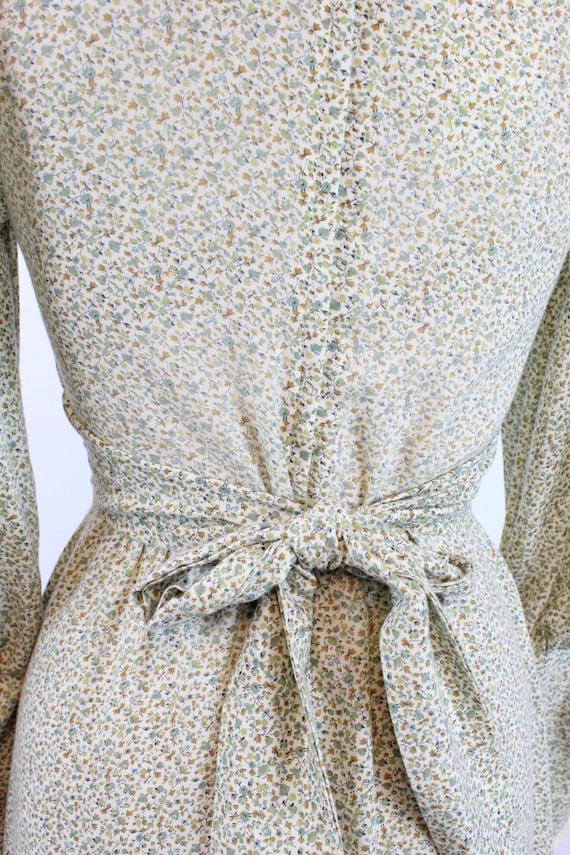 1970s GUNNE SAX cotton FLORAL maxi dress xs    ne… - image 10