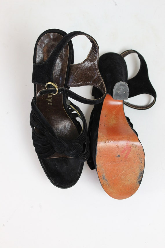 1970s does 1940s platform sandals size 7 us    vi… - image 8