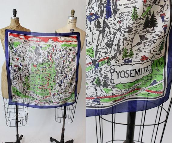 1940s Yosemite novelty souvenir scarf | vintage si