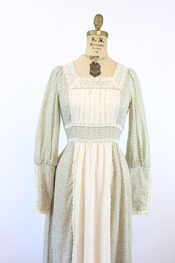 1970s GUNNE SAX cotton FLORAL maxi dress xs    ne… - image 4