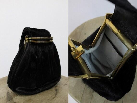 1930s handbag | horse hair clutch