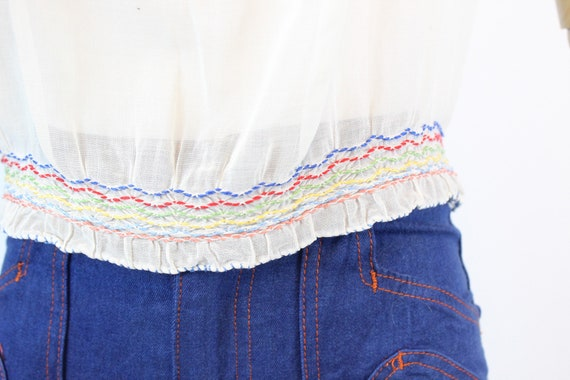1930s HUNGARIAN embroidered peasant blouse small … - image 4