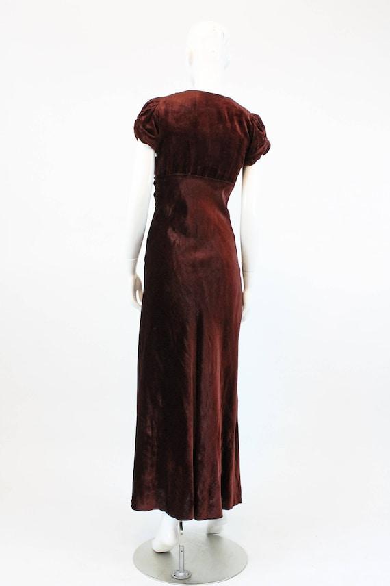 1930s velvet dress | bias cut gown | xs - image 7