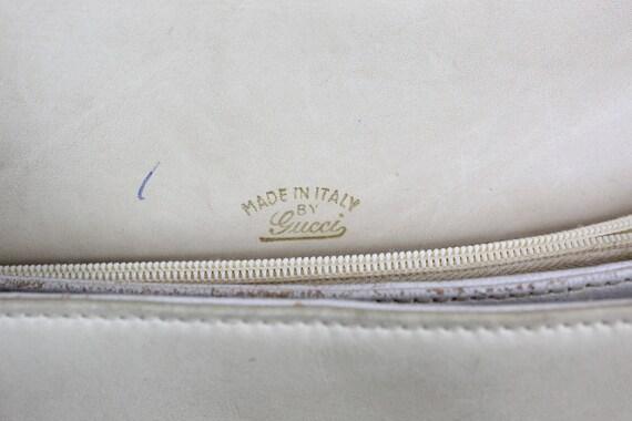 1970s Gucci purse   crossbody satchel   tan leath… - image 7
