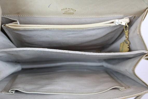 1970s Gucci purse   crossbody satchel   tan leath… - image 9