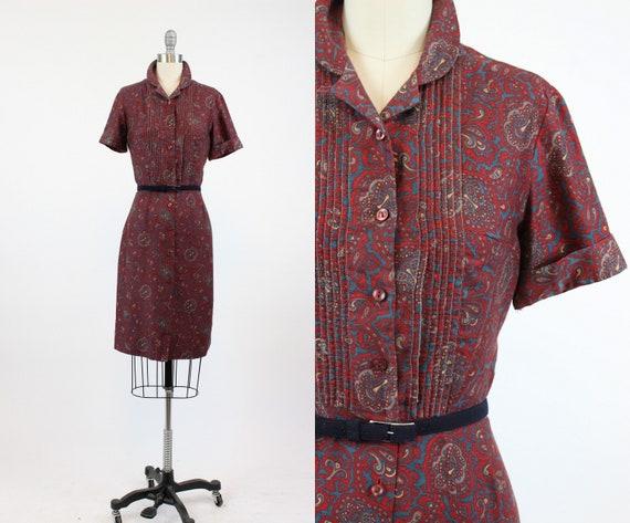 1960s Carol Brent dress | paisley print wiggle | x