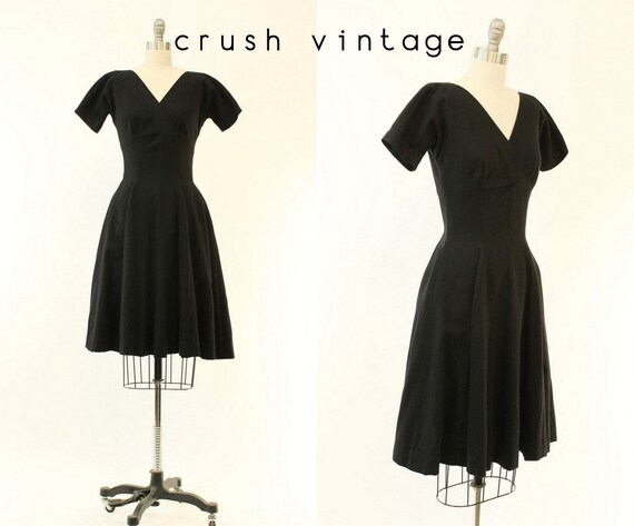 1950s Anne Fogarty dress xs | vintage wool empire