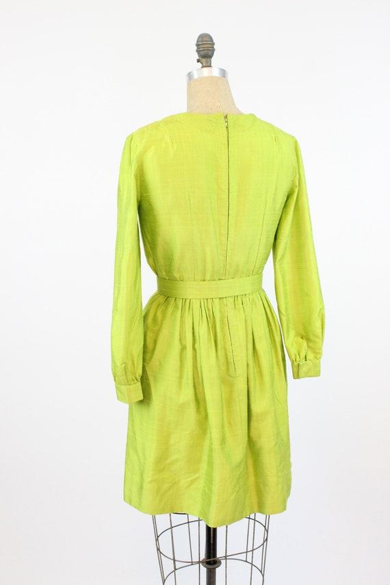 1960s chartreuse dress | mod mini | small - image 6