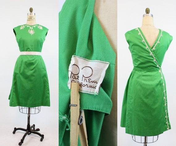 1950s Pat Premo wrap dress medium | vintage soutac