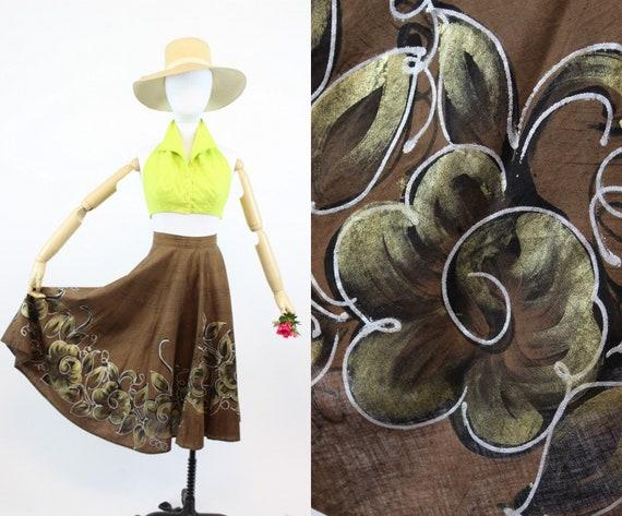 1950s vintage mexican skirt | full circle skirt |