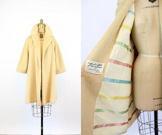 1960s IVORY Lilli Ann fur coat medium large | new