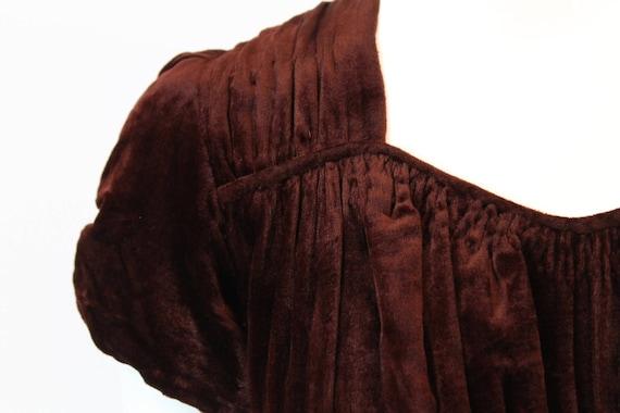 1930s velvet dress | bias cut gown | xs - image 2