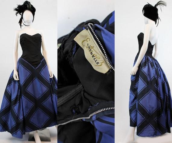 1950s Estevez strapless ball gown xs | vintage sil