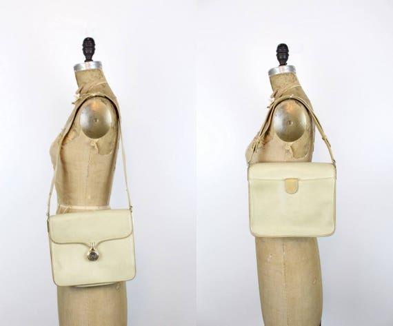 1970s Gucci purse   crossbody satchel   tan leath… - image 1