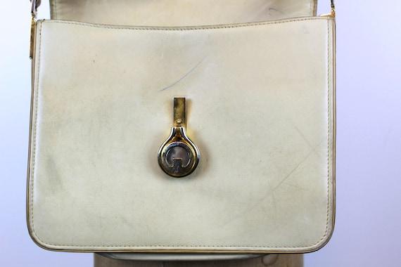 1970s Gucci purse   crossbody satchel   tan leath… - image 6
