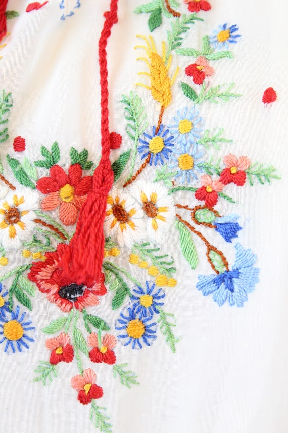1930s HUNGARIAN embroidered peasant blouse small … - image 6
