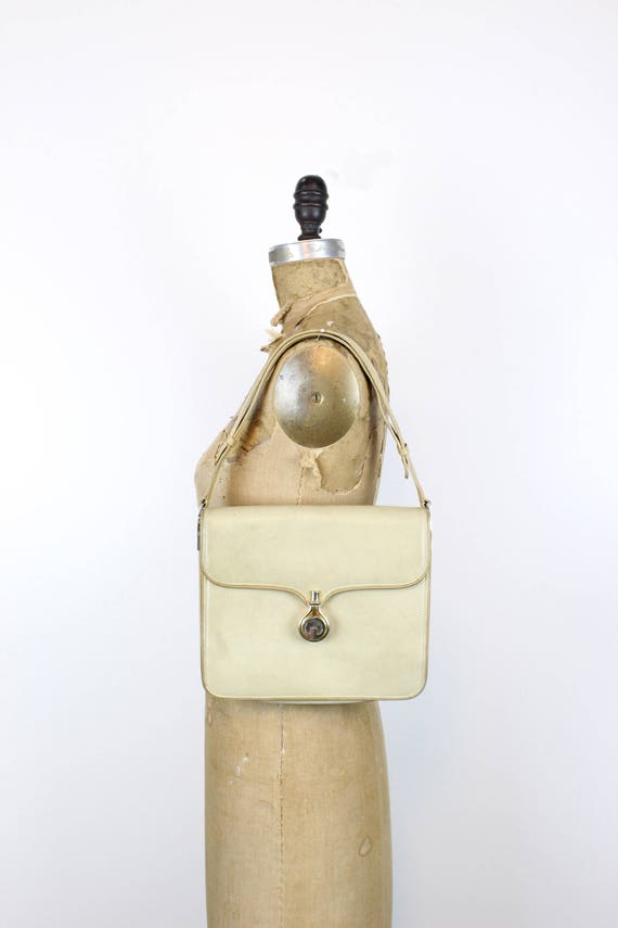1970s Gucci purse   crossbody satchel   tan leath… - image 3