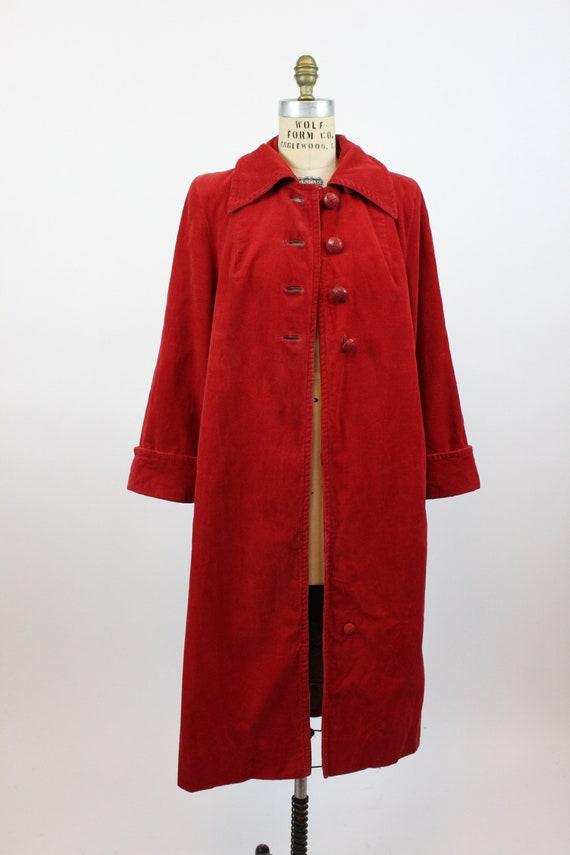 1940s red corduroy coat medium large   vintage ja… - image 7