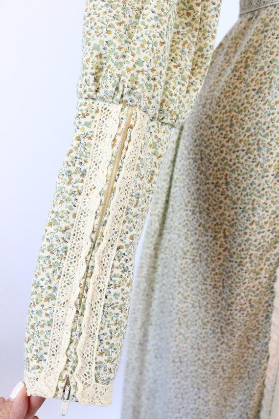1970s GUNNE SAX cotton FLORAL maxi dress xs    ne… - image 7