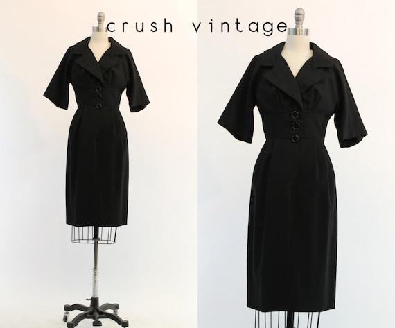 1950s Junior Accent wiggle dress xs | vintage wool