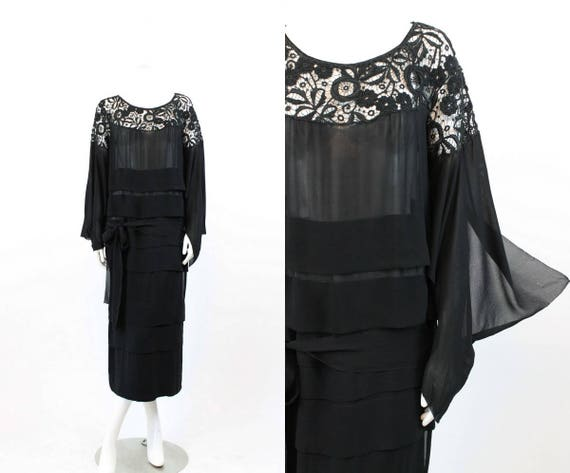 1930s lace dress | tissue silk spiderweb cutout |