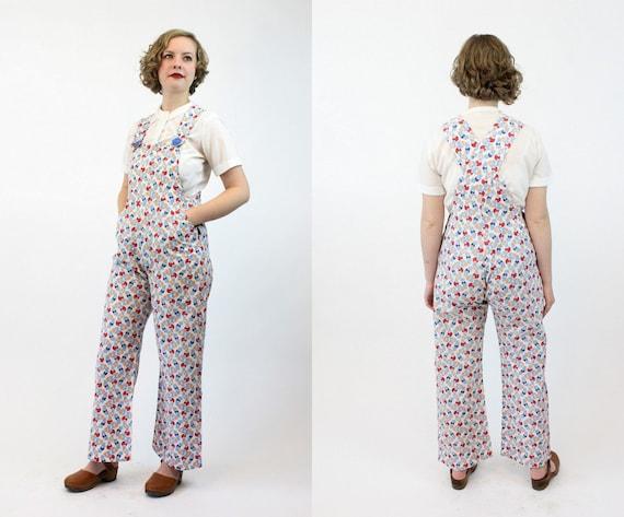 1920s beach pajamas | art deco overalls cotton jum
