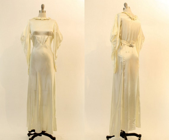 1930s wedding dress liquid satin xs | vintage wedd