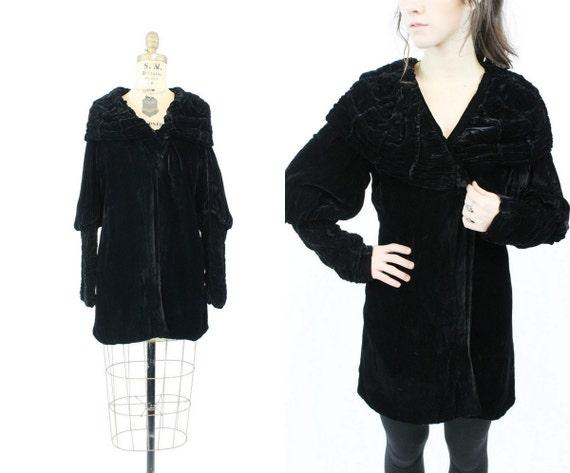 1920s silk velvet jacket xs small | vintage jacket