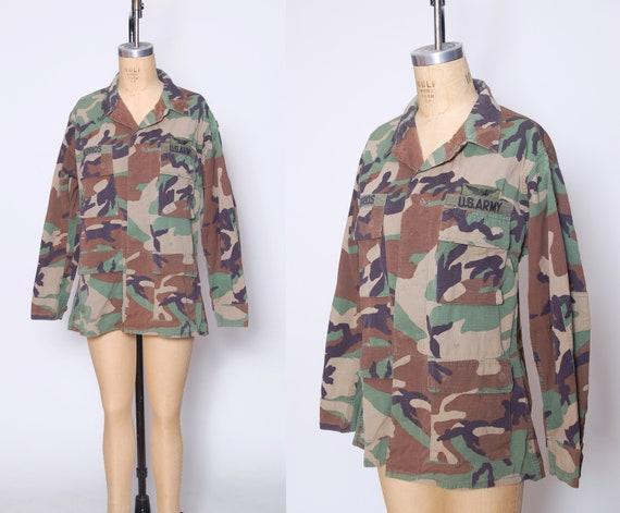 Vintage 90s camouflage jacket / Military US Army J