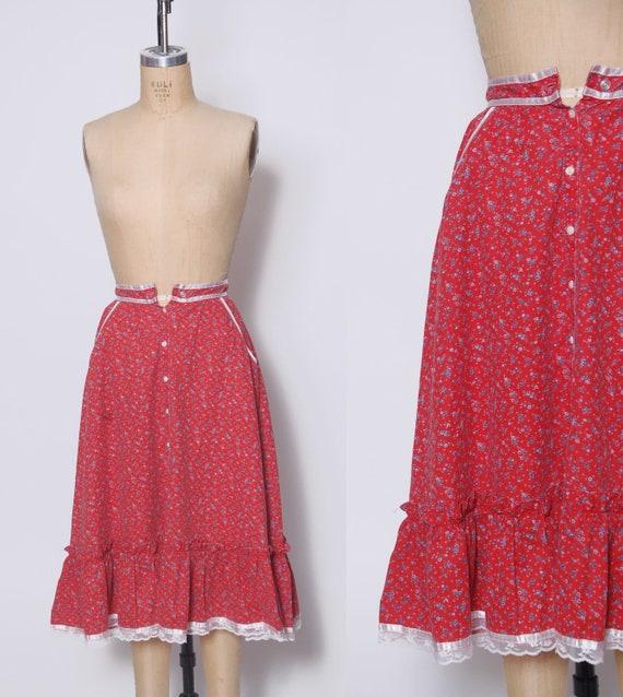 Vintage GUNNE SAX Skirt / 1970s Gunne Sax / Vintag