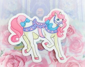 Kawaii Carousel pony Vinyl Sticker