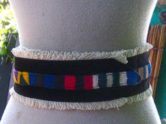 40s 50s GUATEMALAN Belt FIESTA Colors Mexican - image 1