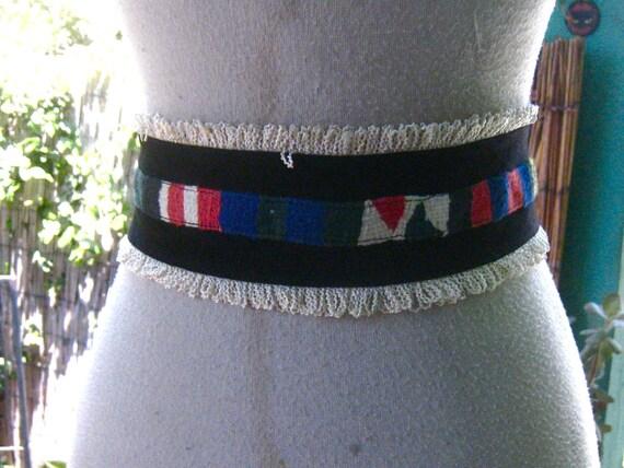 40s 50s GUATEMALAN Belt FIESTA Colors Mexican - image 4