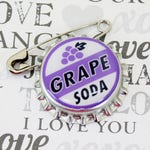 Ellie Badge Grape Soda PIN - LP -  Personalized - Wilderness Explorer - Wedding Groom Gift