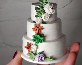 Ready To Ship - Wedding Cake Ornament