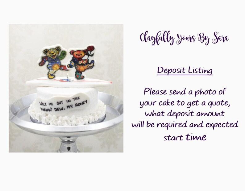 Groom's Cake Mini Replica Custom Ornament  Replica Cake  image 0