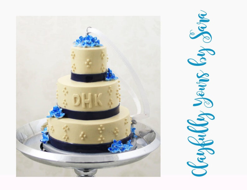 Wedding Cake Mini Replica Custom Ornament  Replica Cake  image 0