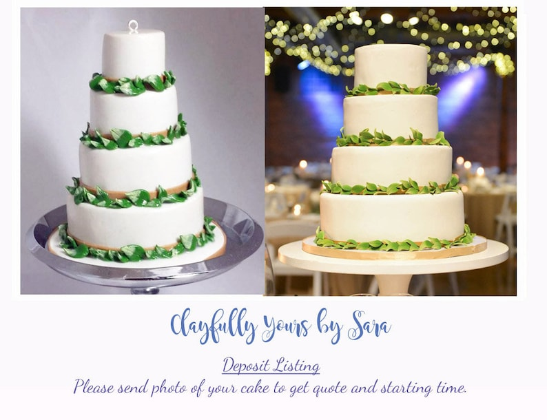 Wedding Cake Replica Ornament  Replica Cake  Wedding Gift  image 0