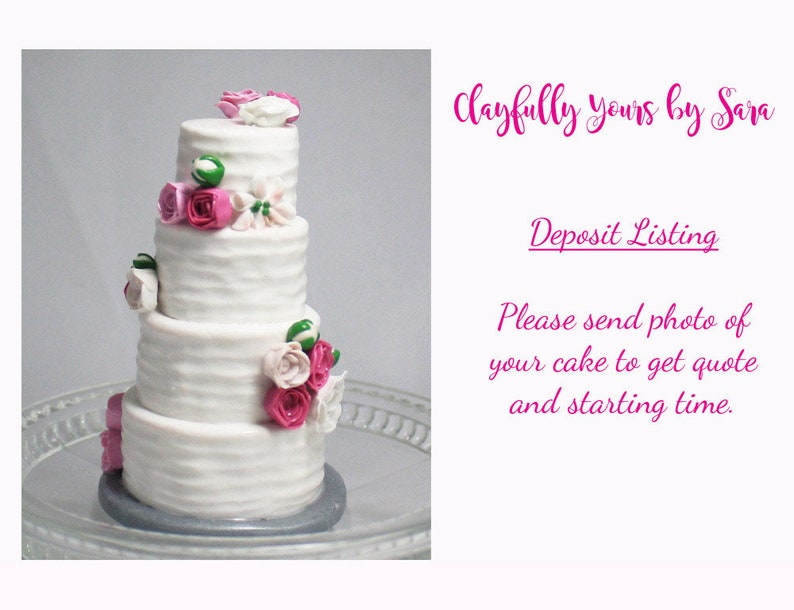 Wedding Cake Mini Replica Custom Ornament  Replica Cake  image 0